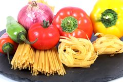 Wheat pasta Royalty Free Stock Images