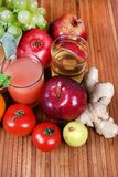 Vegetable and tomato juice Stock Images