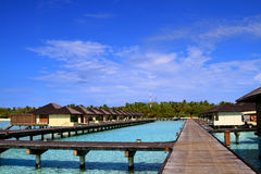 Water villas Stock Image