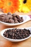 Whole black pepper Royalty Free Stock Image