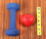 Workout love Royalty Free Stock Photo