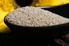 Yellow mustard seeds Royalty Free Stock Photography