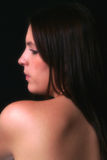 Beautiful Shoulders. Back & shoulders of beautiful woman in colour Royalty Free Stock Photos
