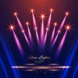 Beautiful show lights background. Vector Stock Images