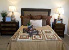 Beautiful showcase bedroom interior Stock Photos