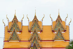 beautiful shrine architecture of many gable layers at Royalty Free Stock Image