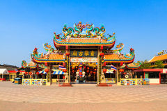 The beautiful shrine in Thailand. Shrine of the city god at Suphun-Buri Thailand Shrine of the city god : in Thai and Chinese Text Shrine of the city god royalty free stock images