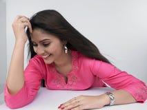 Beautiful Shy Asian Woman Royalty Free Stock Photos