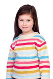 Beautiful shy child Stock Photos