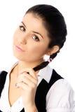 Beautiful Shy Student Stock Photos