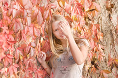 Beautiful shy teen girl royalty free stock photos