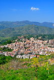 Beautiful Sicilian village travel. Typical Sicilian village in the countryside (italy) by a sunny day Stock Photo