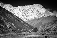Beautiful side-valley on the way from Manang Stock Image
