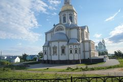 The most beautiful place on the globe. A beautiful sight in Diveevo, it is South of Nizhny Novgorod  The most beautiful place on the globe Stock Images