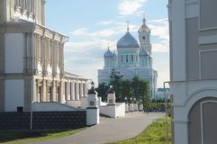 The most beautiful place on the globe. A beautiful sight in Diveevo, it is South of Nizhny Novgorod  The most beautiful place on the globe Royalty Free Stock Images