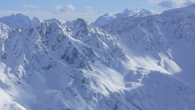 Beautiful sight on the winter vacation mountains in Europe. Nice sight on the winter vacation region in the Alps and snow and winter and Austria and Europe Stock Photography