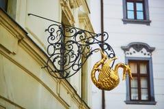 Beautiful sign in the center of Bratislava, Slovakia Stock Photo