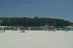 Beautiful Silgar Beach In Sanxenxo. stock photo