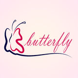 Beautiful  silhouette butterfly. Illustration Stock Photography