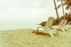 Beautiful Silhouette luxury umbrella and chair around swimming p Royalty Free Stock Image