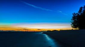 Beautiful silhouette sunrise sky at Koh Lipe island Stock Images