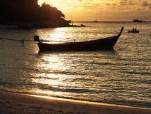 Beautiful silhouette sunset Stock Photo