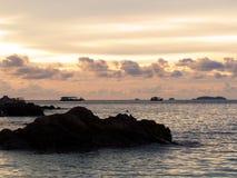 Beautiful silhouette sunset Royalty Free Stock Photos
