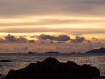 Beautiful silhouette sunset Stock Image