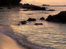 Beautiful silhouette sunset sky at Koh Lipe island Stock Photo