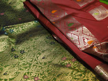 Beautiful silk brocade fabric Royalty Free Stock Image