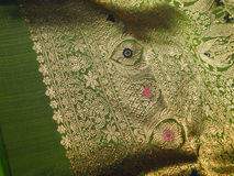 Beautiful silk brocade fabric Royalty Free Stock Photography