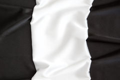 The beautiful silky brilliant wavy white and black Royalty Free Stock Images