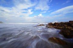 Beautiful silky smooth water at Yarada Beach, Visakhapatnam Royalty Free Stock Photo