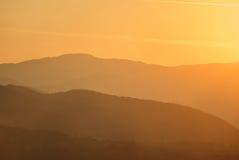 Beautiful silouethe mountain landscape Royalty Free Stock Photo