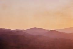 Beautiful silouethe mountain landscape Stock Image