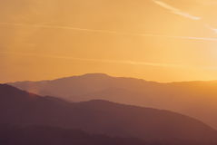 Beautiful silouethe mountain landscape Stock Photography