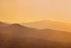 Beautiful silouethe mountain landscape Stock Images