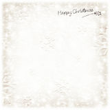 Beautiful silver Christmas card Stock Images