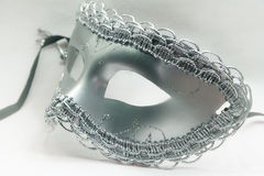 Beautiful Silver Fantasy Mask Royalty Free Stock Images