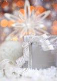 Beautiful silver gift Stock Photo