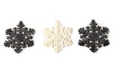 Beautiful silver grey sparkling winter christmas snowflakes Royalty Free Stock Image
