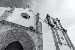 Beautiful Silves Cathedral. Next to the famous Silves Castle, Algarve region of Portugal. Silves Cathedral. Next to the famous Silves Castle, Algarve region of stock image