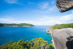 Beautiful similan island like a heaven with blue sky and calm bl Stock Photos