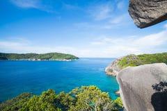 Beautiful similan island like a heaven with blue sky and calm bl. Ue sea surf, Phang-nga, Thailand Stock Photos