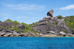 Beautiful similan island like a heaven with blue sky and calm bl Stock Photo