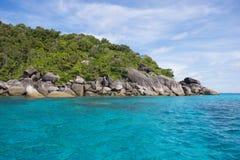 Beautiful similan island like a heaven with blue sky and calm se. A surf, Phang-nga, Thailand Royalty Free Stock Image