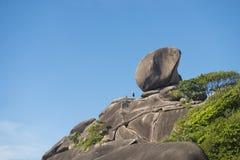 Beautiful similan island like a heaven with blue sky Stock Image