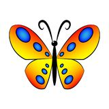 A beautiful simple design of a colorful butterfly royalty free illustration