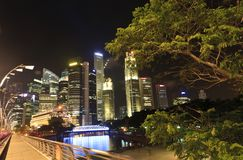 Beautiful Singapore City at Night Royalty Free Stock Image