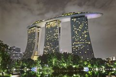 Beautiful Singapore at night Stock Photos